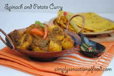 simply.food: Spinach and Potato Curry