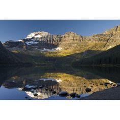 Cameron Lake Waterton Alberta Canada Canvas Art - Philippe Widling Design Pics (34 x 22)