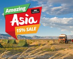 #AmazingAsia Sale  15% off the land price of any trip in Asia including India, departing from the 18th July 2016 until the 31st May 2017.   Book between 18th July 2016 - 8th August 2016. Excludes Bhutan and family trips, other terms and conditions apply.