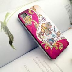 Bright flowers studded bling jeweled iPhone 4 case, $30