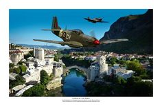 Lords of the Skies - by Mark Donoghue.  RAAF P-51 Mustang warbird aviation art WWII WW2 Military fighter