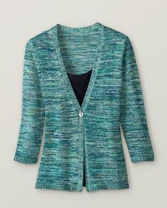 Marbled knit cardigan