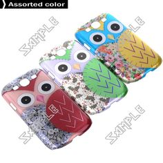 Low Price Samsung Accessories: Fashionable Owl Pattern 2D Cover Case Protector fo...