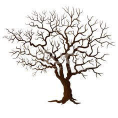 Tree without leaves isolated on white royalty-free stock vector art