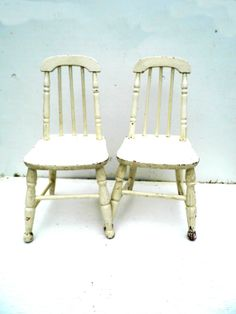 Vintage Child's Windsor Chairs Shabby Kid's by PaperWoodVintage, $95.00
