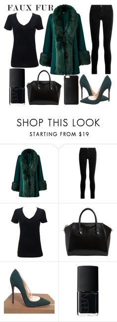 """""""faux fur"""" by j-n-a ❤ liked on Polyvore featuring J Brand, Simplex Apparel, Givenchy, Christian Louboutin, NARS Cosmetics and Knomo"""