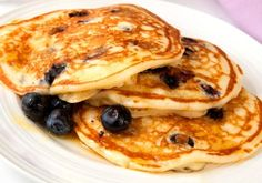 Nothing like hot blueberry pancakes on a Saturday morning!
