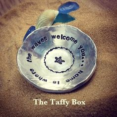 Hand Stamped Pewter Trinket Ring Dish - pinned by pin4etsy.com