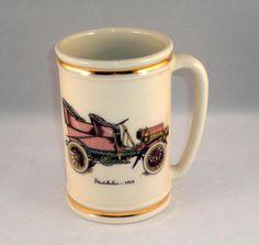 Hyalyn Pottery North Carolina Large Mug STUDEBAKER 1904 with Gold Bands