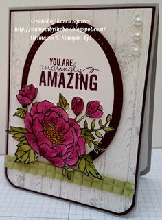 Stampin' Up! Stampin' By The Bay: Birthday Blooms Mother's Day