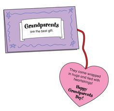Grandparents Day ~ cute student-made card (with patterns)