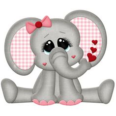 Silhouette Design Store - View Design #115683: valentine elephant
