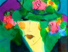 WALASSE TING - BLOSSOM LADY - KUNZT.GALLERY http://www.widewalls.ch/artwork/walasse-ting/blossom-lady/ #Print