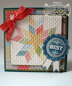 Connie Collins, Constantly Stamping - Country Fair Quilt Card, Oh, Hello stamp set