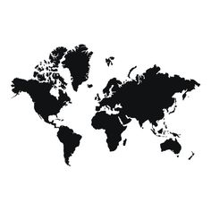 Black and white print with a world map interior pinterest world map memo board dwell gumiabroncs Choice Image