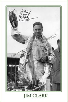 * JIM CLARK * Signed poster of