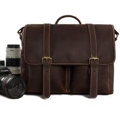 Vintage Genuine Leather DSLR Camera Bag SLR Camera Bag Leather Camera Bag DZ10