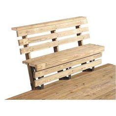 2x4 Basics Bench Bracket for Decks-BLACK DECK BENCH BRACKET