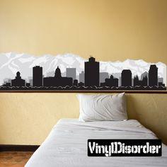 Salt Lake City Utah Skyline Vinyl Wall Decal or Car Sticker SS095