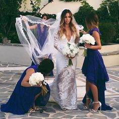 What we girls do without our bridesmaids?! Love this stunning shot of @sivanayla on her wedding day #GaliaLahav