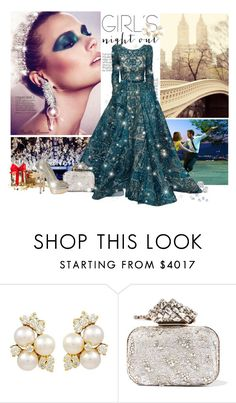 """Like a Queen"" by railda-pereira ❤ liked on Polyvore featuring Luxo, Zimmermann, Elie Saab and Jimmy Choo"