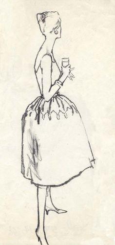 Fashion illustrations by Carl 'Eric' Erickson