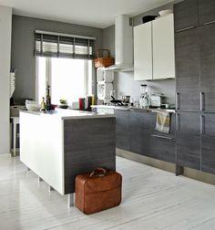 Tarja's Snowland, scandinavian kitchen, modern kitchen, grey kitchen