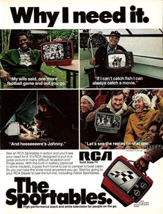 #ThrowbackThursday: Advertisement for the #RCA Sportable circa 1976. What do you miss most about the 1970s? #throwbackthurs #tbt #retro #vintage #tv