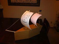 Pirate ship Valentine box