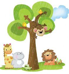 Imagenes animales de la selva para baby shower - Imagui