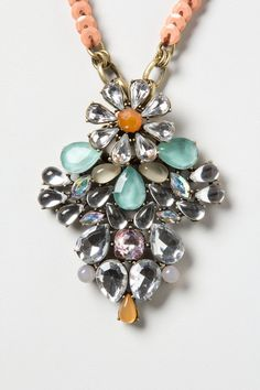 Give a 50's cardigan with this Tasso Necklace -Anthropologie -Sparkle