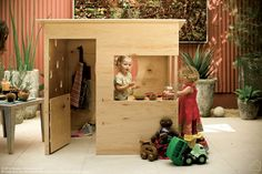 Playhouse! Yes this is what I want to make for our kids! Honestly doing it out of plywood will be alot cheaper than the already put together plastic ones!