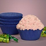 Blue colored glassine cupcake baking cup