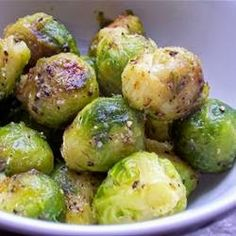 Roasted Brussels Sprouts | This recipe is from my mother. It may sound strange, but these are really good and very easy to make. The Brussels sprouts should be brown with a bit of black on the outside when done. Any leftovers can be reheated or even just eaten cold from the fridge. I don't know how, but they taste sweet and salty at the same time!