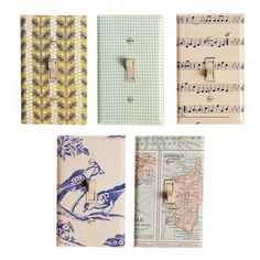Switch Plate Covers, Light Switch Plates, Light Switch Covers, Wallpaper Crafts, Of Wallpaper, Wallpaper Ideas, Wallpaper Samples, Do It Yourself Design, Do It Yourself Home