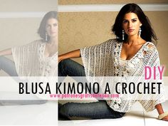 Cómo se teje blusa calada crochet estilo kimono paso a paso en español