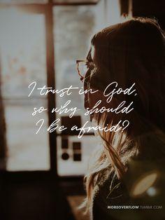 I trust in God, so why should I be afraid?  Psalm 56:4  #30daysofbiblelettering