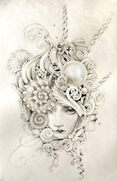 Ocean theme #tattoo #idea maybe on a sugar skull?