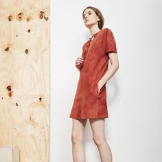 """Theory on Instagram: """"This tunic dress is suede at its best: smooth, light and drapey. #TheorySS16"""""""