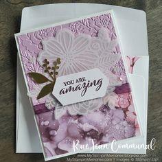 Paper Cards, Diy Cards, Stampin Up Paper Pumpkin, Pumpkin Cards, Stamping Up Cards, Card Kit, Flower Cards, Paper Design, Cardmaking