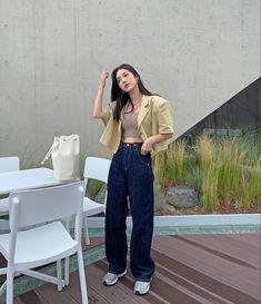 Korean Girl Fashion, Korean Fashion Trends, Ulzzang Fashion, Kpop Fashion Outfits, Korean Outfits, Asian Fashion, Cute Casual Outfits, Aesthetic Clothes, Streetwear Fashion