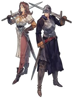 Tactics Ogre: Let us Cling Together concept art.