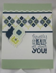 June 12, 2013  Stampin'Up! Mosaic Madness and Kind & Cozy!