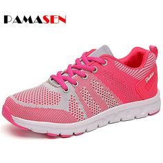 PAMASEN Hot Sales Femme Summer Zapato Women Breathable Mesh Zapatillas Shoes Women Network Soft Casual Shoes Wild Flats Casual #Affiliate