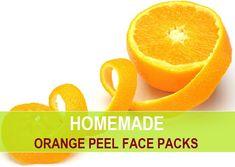 Orange Peel face packs for acne, glowing, fair skin
