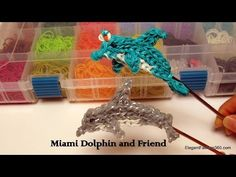 How to make Dolphin/Miami Dolphin Charm - Rainbow Loom Action Figure - YouTube