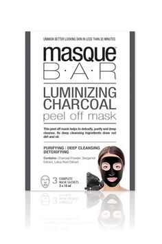 Masque Bar Luminizing Charcoal Peel Off Mask - £9.99 for three - Boots.com