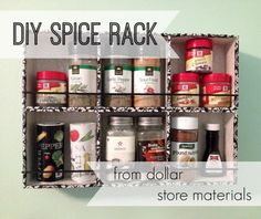 Dollar Store Spice Rack - Dollar store crafts are cheap ways to organize your life.