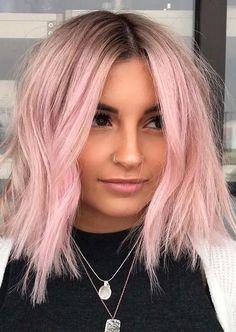 10 Beautiful Pink Pastel Hair Colors & Hairstyles for 2019 Ombre Hair pastel pink hair ombre Pastel Pink Hair, Hair Color Pink, Cool Hair Color, Short Pastel Hair, Rose Pink Hair, Short Colorful Hair, Brown And Pink Hair, Baby Pink Hair, Pink Blonde Hair