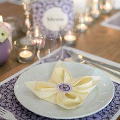 Pimp je servetten met deze vintage servetstickers – Beaublue #fleurdeparis #lavendel #stickers #napkins #beaublue
